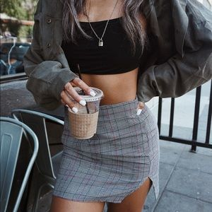 Tobi Plaid Skirt